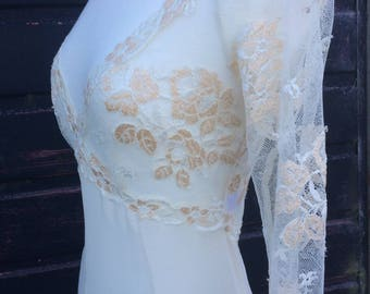 La Perla Silk Lace Sheer Gown