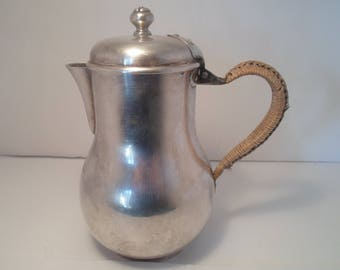 Antique ARISLER & CARRE PARIS France Signed Personal Teapot with Wrapped Handle French Silversmiths Neptune on Front