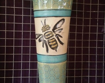 Vase, Wall Vase, Bee Vase, Flower Vase, Bee Bud Vase, Springtime Vase