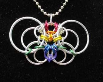 Joyce Butterfly Chainmaille Pendant Tutorial
