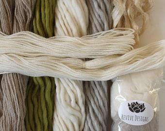 Weavers pack 246 grams (8.6 oz) 100% natural yarn, Woodland...