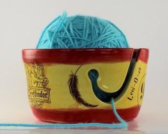 Gryffindor Ceramic Yarn Bowl - IN STOCK