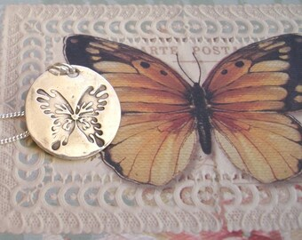 "The Butterfly ""A symbol of rebirth"" - Fine Silver"