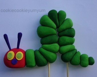 1 edible 3D HUNGRY CATERPILLAR 12cm cake topper decorations fruit CAKE party wedding anniversary birthday story book