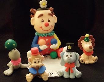 Circus Birthday, Circus Cake Topper, Circus Clown Cake Topper, Circus Party Decoaration, Circus Clown Birthday Decoration, Circus Decoration