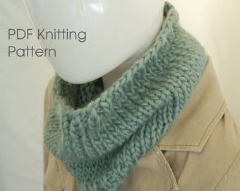 Chunky cowl pattern, knitting pattern, scarf pattern, knitted cowl, pattern for cowl, pattern for scarf,