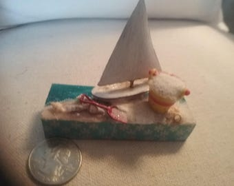 Miniature beach scene