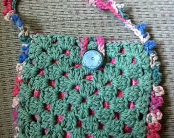 Crocheted Granny Square Purse #108