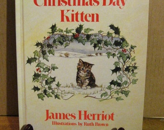 The Christmas Day Kitten by James Herriot - Hardcover Book - Vintage