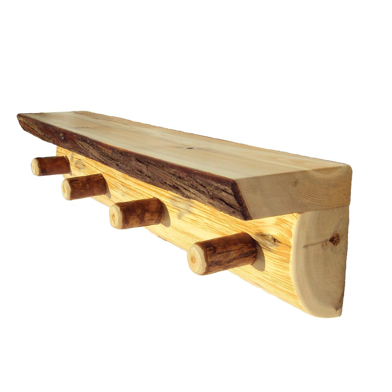 Half Log Peg Shelf Rustic Shelves Rustic Wood Shelf Log
