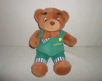 Corduroy Teddy Bear Stuffed Animal ***from 1968 Don Freeman Book*** Overalls Green TV Cartoon Character My First Eden Plush Made in 1996