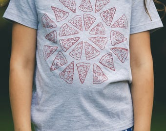 Kids Pizza Shirt USA made childrens clothing tshirt pizza party