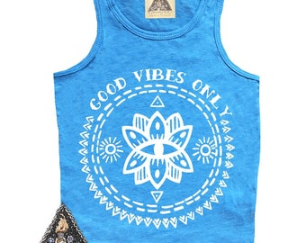 Good Vibes Tank, Good Vibes Only Tank, Good Vibes Kids Tank, Boho Kids Tank, Yoga Kids Tank, Good Vibes Only, Vibes Tank