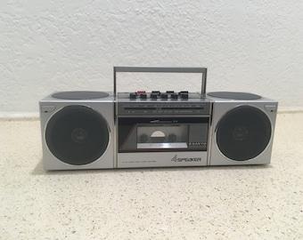 Vintage Sanyo M-S400 Radio Cassette Recorder