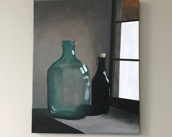 Still Life of Jug and Wine Bottle