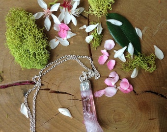 Pink Aura Quartz Necklace