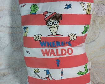 1991 Once Upon a Pillow Wheres Waldo Plush Story Book Pillow Stoneway Books Rare HTF
