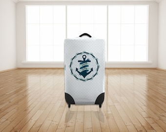 Smooth Sailing Anchor Design Caseskinz Suitcase Cover Easily Identify Your Case On The Carousel
