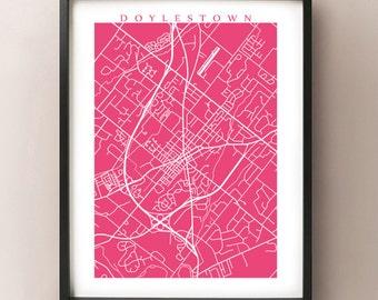 Doylestown Map - Pennsylvania Poster