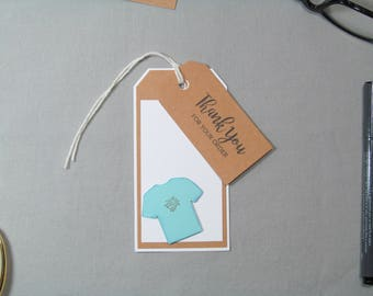 Business Thank You Tags - Small Business Tags - T Shirt Tags - Clothing Tags - Handmade Seller Tag - Thank You Tags – Handmade Business Tags