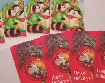 8 Vintage Holiday Christmas Postcards