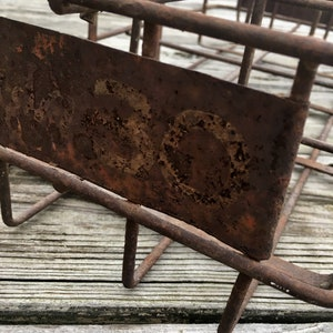 Vintage Milk Carrier / French Farmhouse / Bottle Carrier / Rustic / Chippy / Industrial Chic