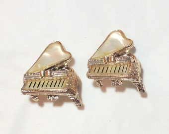 Vintage Mother of Pearl Piano Dress Pins