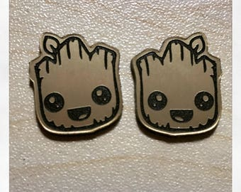 Guardians of the Galaxy Baby Groot Inspired Acrylic Earrings