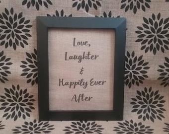 Wedding Burlap Print
