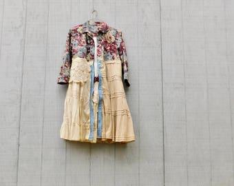 Floral Duster Coat, Shabby Chic Jacket, Sustainable, Floral Jacket, Upcycled Jacket, Ladies Coat, Recycled, Reclaimed, CreoleSha