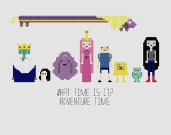 Cross Stitch Pattern - Adventure Time//Craft Supplies//PDF Pattern//Instant Download//Digital Download