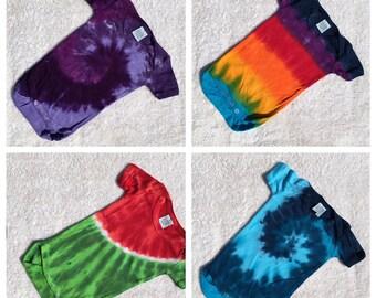 Baby-Bambus und Baumwolle Tie Dye Creepers/Strampler in der Wahl der Farben