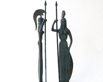 Greek Goddess Athena Metal Art Sculpture, Goddess Athena Bronze Sculpture, Ancient Greece, Greek Mythology, Museum Replica, Olympian Gods