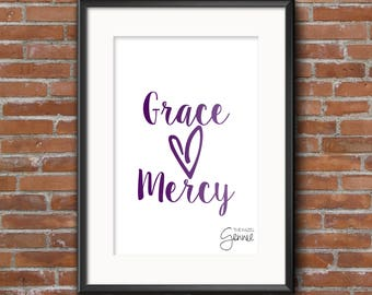 Grace and Mercy Foil Print