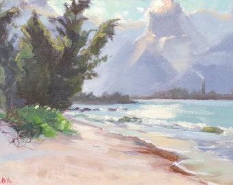 Maui memories// Sale, Original oil painting// Hawaii sunset//Kihei memory// landscape painting// impressionism