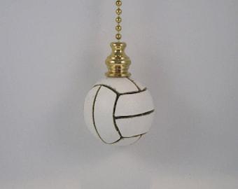 "Soccer Ball Fan Pull for Light or Fan Brass Ball Chain 18"" Long FP10"