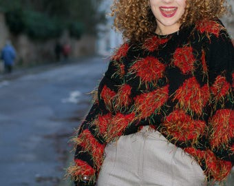 Vintage retro sweater 80/90 years - Handmade