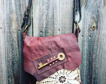 Handsewn Skeleton Key Handbag
