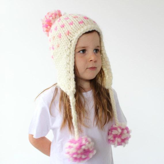 Knitted Earflap Hat Pattern Pdf Knitting Pattern Super
