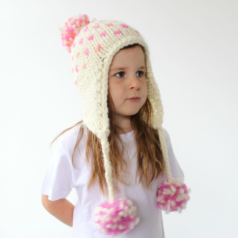 Knitted Earflap Hat Pattern - PDF Knitting Pattern, Super Bulky ...