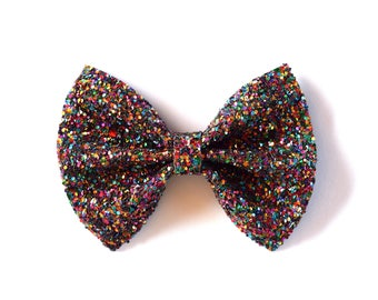 Candy Glitter Bow Photo Prop Pictures Headband for Newborn Baby Little Girl Child Adult Spring Summer Multi Colored Sparkly Clip