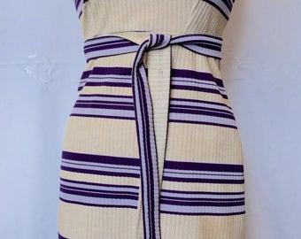 1960s STYLE metallic knit fabric tube dress