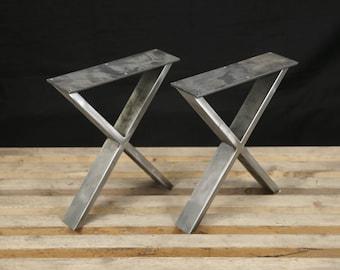 Steel bench legs coffee table legs metal legs square bench steel bench legs coffee table legs metal legs square bench base coffee table base set2 watchthetrailerfo