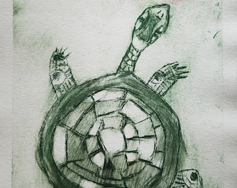 Zephyr - Turtle Etching