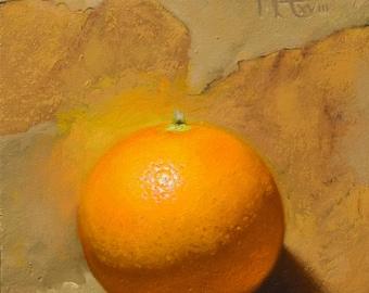 Atomic Orange Part I - Original Oil Painting in Frame