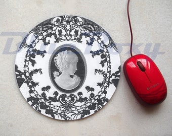 Cameo Mousepad, Office Mousepad, Computer Mouse Pad, Fabric Mousepad