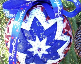 Red, White and Blue Patriotic Ornament