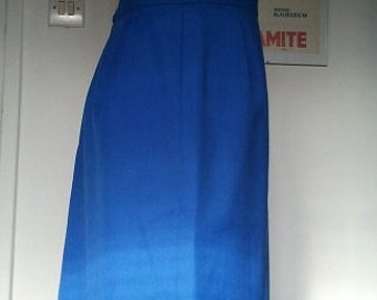 Vintage pin up pencil skirt blue 1960 pin up S