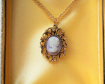 Petite Cameo Necklace in Original Box - 5592