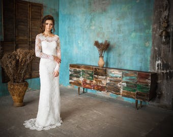 Wedding dress. long sleeve wedding dress , Lace wedding dress , Light wedding dress , Comfortable